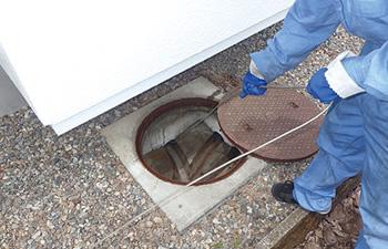 建物外周部排水管洗浄